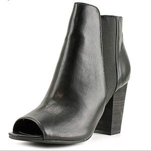 Chinese Laundry peep toe faux leather booties